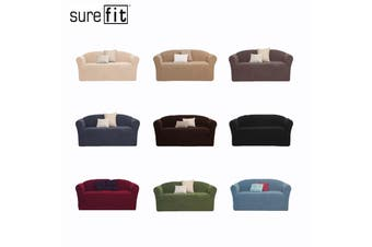 SureFit Pearson Two Seater Couch Cover Dark Flax