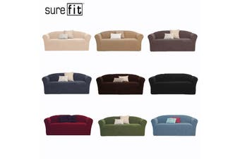 SureFit Pearson Three Seater Couch Cover Dark Flax
