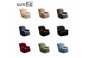SureFit Pearson Recliner Couch Cover Dark Flax