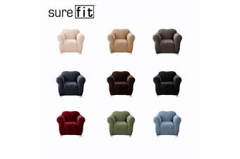 SureFit Pearson One Seater Couch Cover Ebony