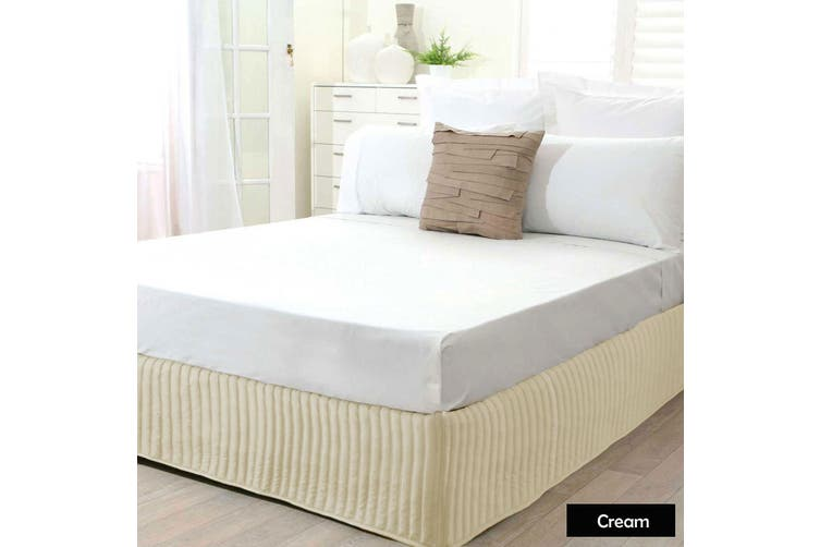 Ardor Quilted Valance Cream DOUBLE