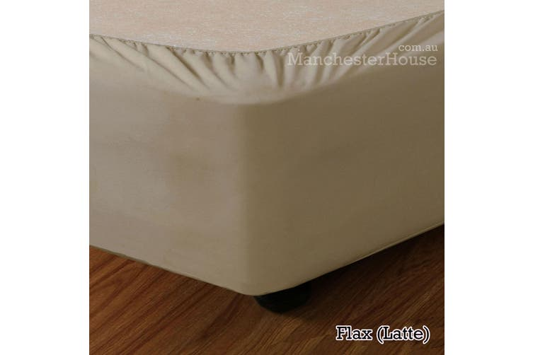 Apartmento Stretch Valance Flax (Latte) DOUBLE