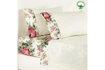 Cotton Rosewood Sheet Set Double