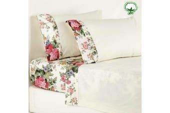 Cotton Rosewood Sheet Set Single