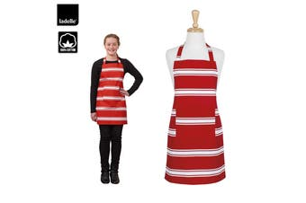Butcher Cotton Teen Apron Red by Ladelle