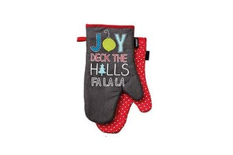 Set of 2 - Be Merry Kitchen / BBQ Oven Mitt by Ladelle