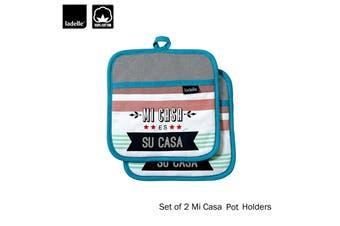 Set of 2 - Mi Casa Cotton Kitchen / BBQ Pot Holders by Ladelle