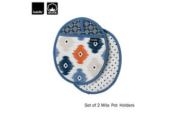 Set of 2 - Mila Kitchen / BBQ Cotton Pot Holders by Ladelle