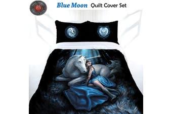 Anne Stokes Blue Moon Quilt Cover Set Double