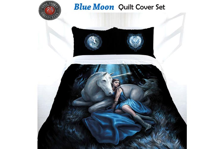 Anne Stokes Blue Moon Quilt Cover Set King