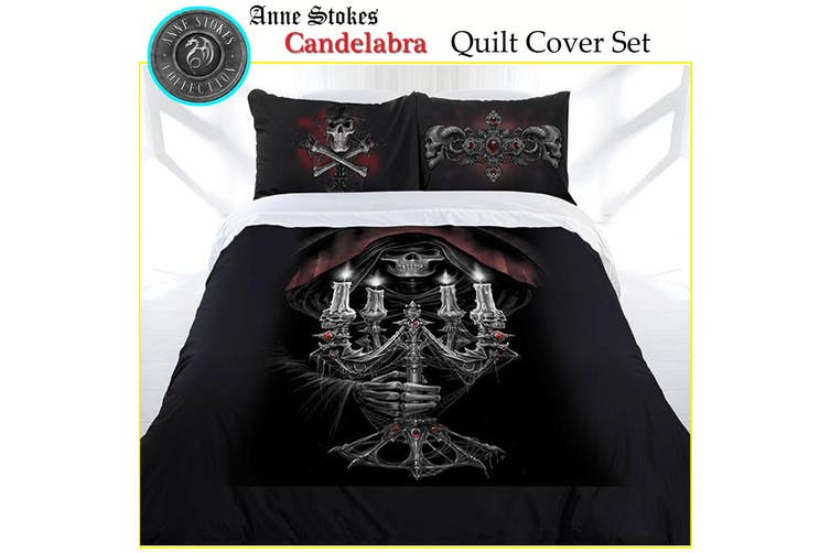 Anne Stokes Candelabra Quilt Cover Set Queen