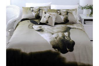 Dapple Horse Quilt Cover Set KING by Just Home