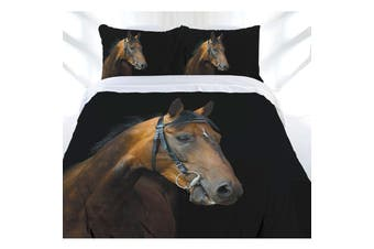 Dark Rider Quilt Cover Set Single by Just Home