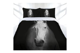 Just Home Midnight Horse Quilt Cover Set Queen
