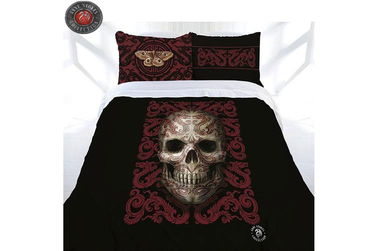 Anne Stokes Oriental Skull Quilt Cover Set Double