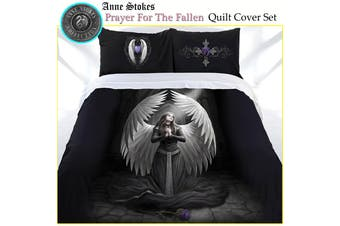 Anne Stokes Prayer For The Fallen Quilt Cover Set DOUBLE