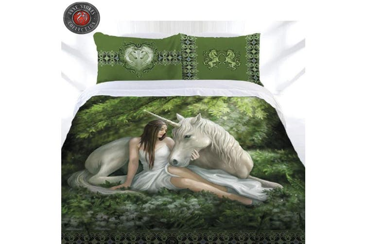 Anne Stokes Pure Heart Quilt Cover Set Double