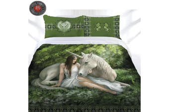 Anne Stokes Pure Heart Quilt Cover Set King