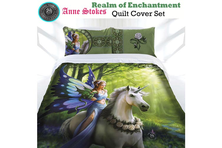 Anne Stokes Realm of Enchantment Quilt Cover Set Double