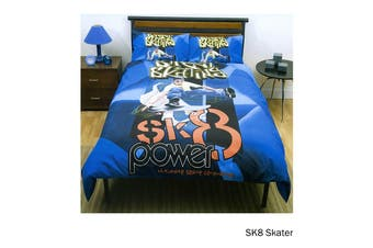SK8 Skater Quilt Cover Set Double