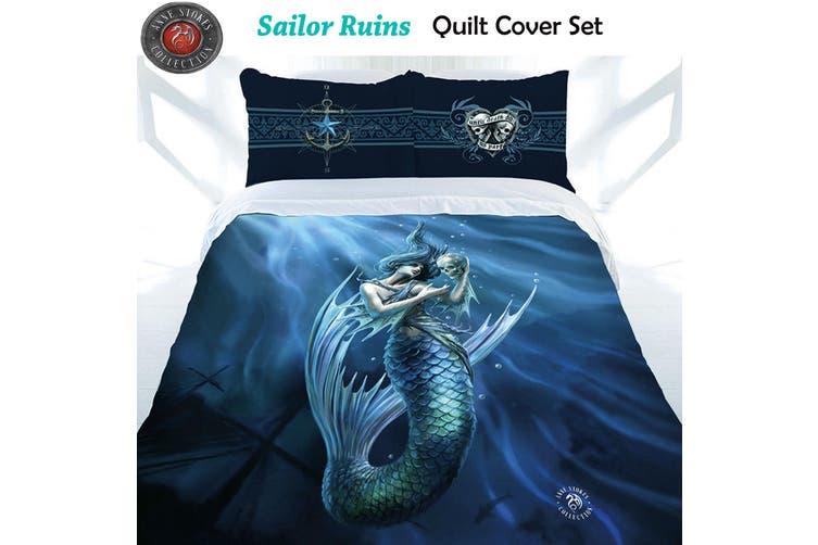 Anne Stokes Sailor Ruins Quilt Cover Set Double