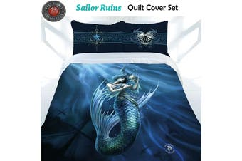 Anne Stokes Sailor Ruins Quilt Cover Set King