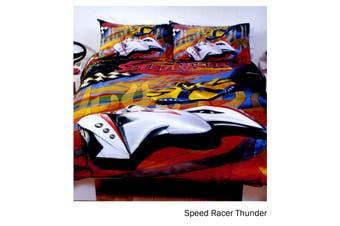 Speed Racer Thunder Quilt Cover Set Single