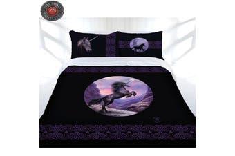 Black Unicorn Quilt Cover Set Queen