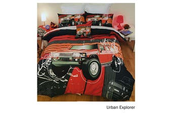 Urban Explorer Quilt Cover Set Queen by Just Home