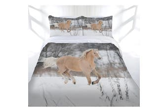 Just Home Winter Gallop Quilt Cover Set Double