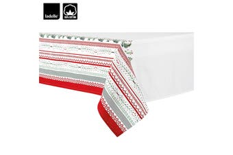 Wonderful Christmas Xmas Festival Cotton Tablecloth Oblong 10 Seater 150 x 265 cm
