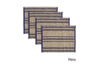 Set of 4 Loma Woven Table Placemats Navy by Ladelle