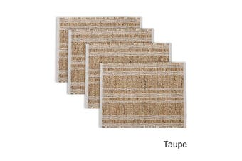 Set of 4 Loma Woven Table Placemats Taupe by Ladelle