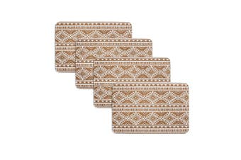Set of 4 Oasis Tribal White Cork Placemats by Ladelle
