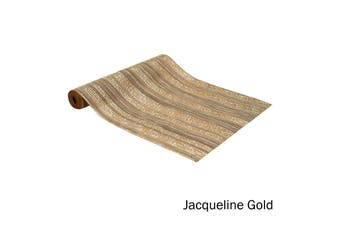 Quality Vinyl Kitchen / Dining Table Runner Jacqueline Gold by Ladelle