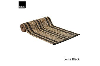 Loma Kitchen / Dining Table Runner Black by Ladelle