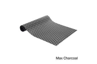 Quality Vinyl Kitchen / Dining Table Runner Max Charcoal by Ladelle