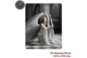 Anne Stokes The Blessing Polar Fleece Throw