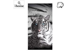 Blue Eyes Stripes Tiger Bath Beach Towel by Just Home