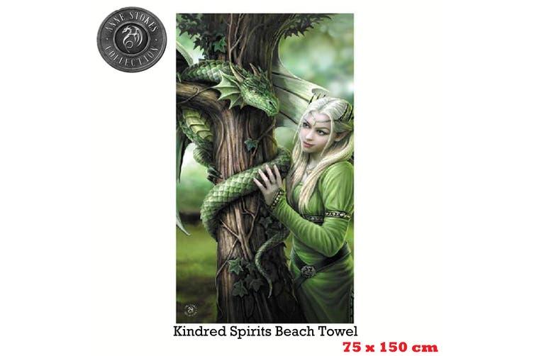 Anne Stokes Kindred Spirits Beach Towel