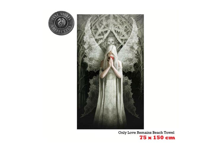 Anne Stokes Only Love Remains Beach Towel