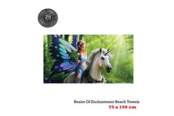 Realm Of Enchantment Beach Towel 75 x 150 cm by Anne Stoke