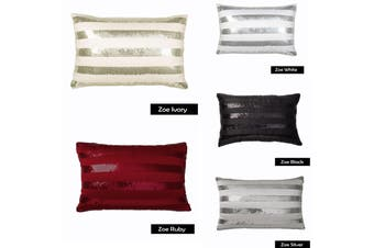 Filled Cushion ZOE Black by Logan and Mason
