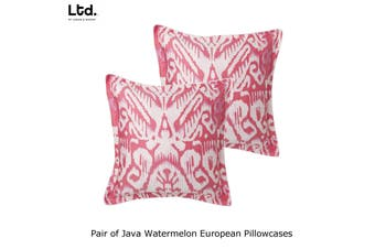 Pair of Java Watermelon European Pillowcases