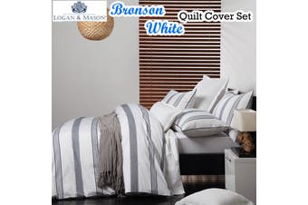 Logan & Mason Bronson White Quilt Cover Set KING