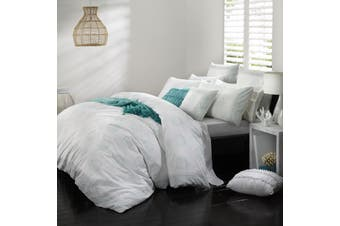 Logan & Mason Sancha Seafoam Quilt Cover Set SUPER King