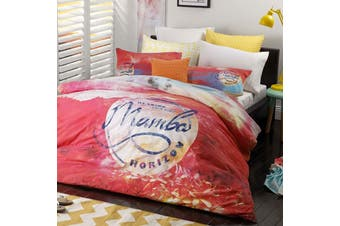 Mambo Sunset Pink Quilt Cover Set QUEEN