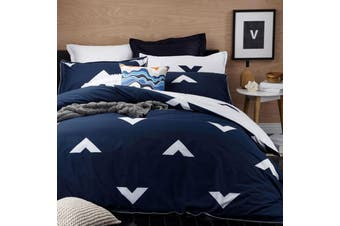 Vespa Ink Quilt Cover Set King by Logan & Mason