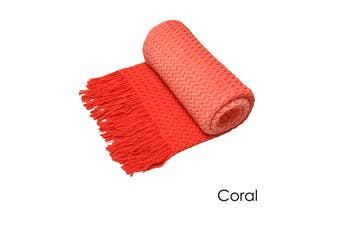 Ombre Throw Rug Coral by Logan and Mason