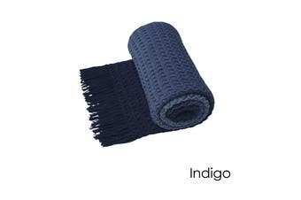 Ombre Throw Rug Indigo by Logan and Mason